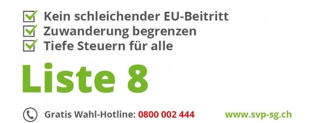 Wahlbroschüre:  SVP St.Gallen