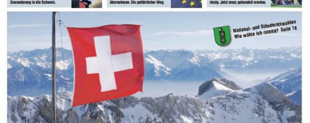 Extrablatt SVP Schweiz,  mit Wahlteil St.Gallen