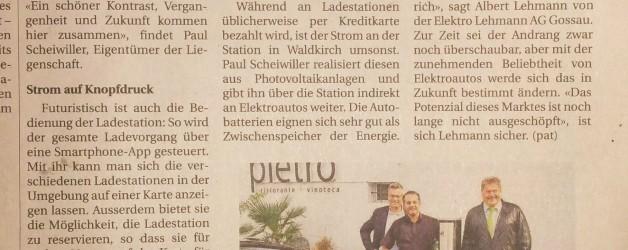 e-Ladestation beim Gasthaus Kreuz Waldkirch