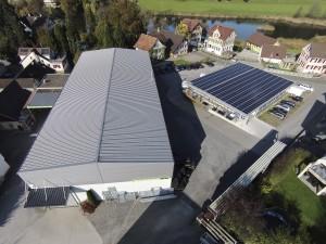 Mein Firmenareal in Hauptwil, mit Dirim AG, Mabilec AG im Werk 1, und AHA Informatik AG im neuen Werk 2 mit Solaranlage
