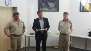 mit Architekt Herbert Huser und Zoodirektor Ernst Federer