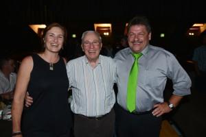 Christoph Blocher mit Paul und Alexandra Scheiwiller