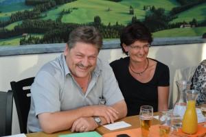 mit meiner Schwester und Wahlkampfleiterin Cäcilia Hefti