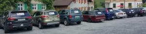 Unser Parkplatz ...